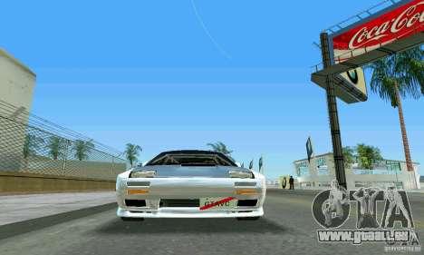 Mazda Savanna RX-7 FC3S pour une vue GTA Vice City de l'intérieur