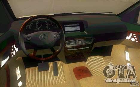 Mercedes Benz CL 500 für GTA San Andreas Innenansicht