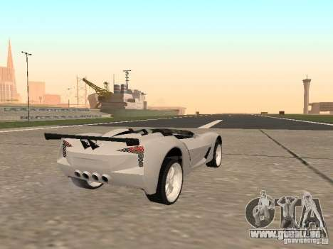 Chevrolet Corvette C7 Spyder für GTA San Andreas zurück linke Ansicht