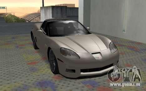 Chevrolet Covette Z06 pour GTA San Andreas laissé vue