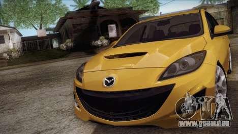 Mazda Mazdaspeed3 2010 für GTA San Andreas zurück linke Ansicht
