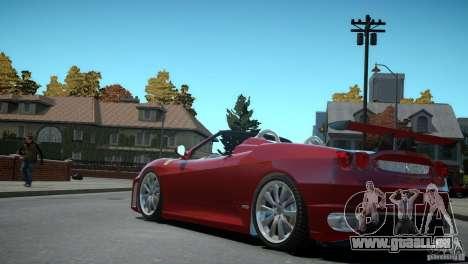 Ferrari F430 Spider pour GTA 4 Vue arrière