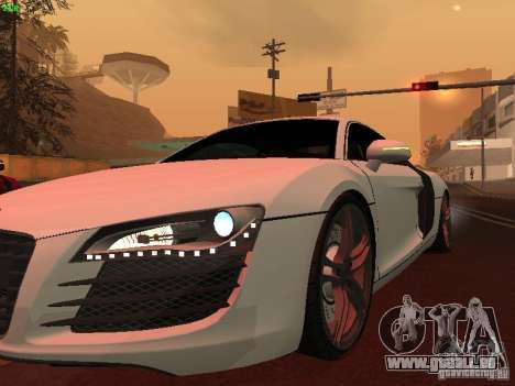 Audi R8 pour GTA San Andreas vue arrière