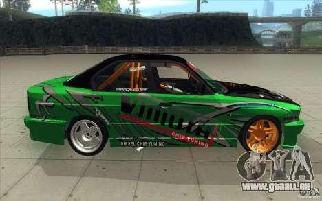 BMW E34 V8 Wide Body pour GTA San Andreas vue intérieure