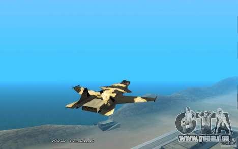 Su-32-Steinadler für GTA San Andreas Rückansicht