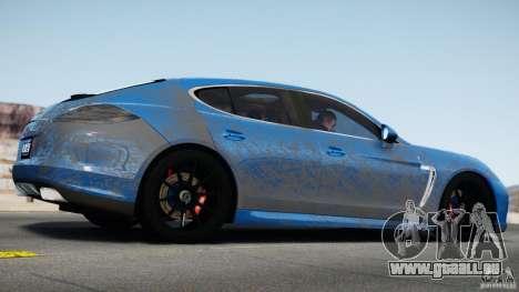 Porsche Panamera Turbo 2010 Black Edition pour GTA 4 Vue arrière de la gauche
