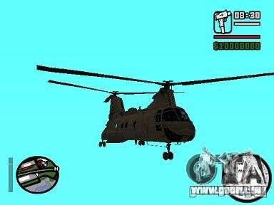 CH-46 SeaKnight pour GTA San Andreas sur la vue arrière gauche