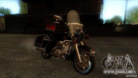 Harley Davidson pour GTA San Andreas vue arrière