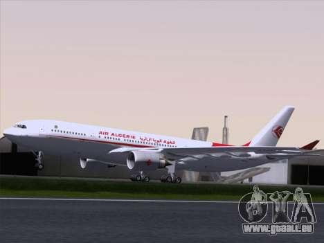 Airbus A330-203 Air Algerie pour GTA San Andreas vue arrière