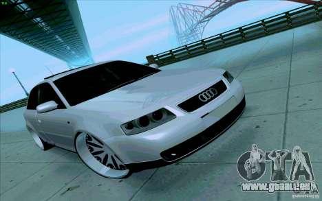 Audi A3 DUB Edition pour GTA San Andreas vue intérieure