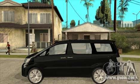 Toyota Alphard Hybrid pour GTA San Andreas laissé vue