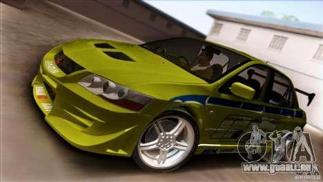 Mitsubishi Lancer Evo VII 2F2F für GTA San Andreas