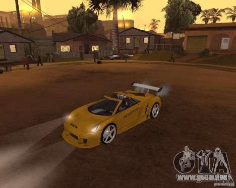 Cadillac Cien The SHARK DREAM Tuning pour GTA San Andreas sur la vue arrière gauche