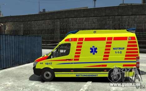Mercedes-Benz Sprinter 2011 Ambulance pour GTA 4 est une gauche