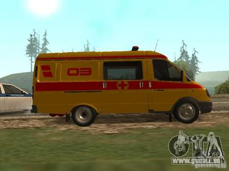 GAZ réanimation 32217 pour GTA San Andreas laissé vue