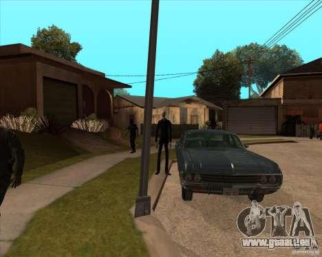 Slender en lunettes noires pour GTA San Andreas troisième écran