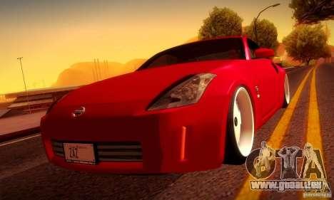 Nissan 350Z Stanceworks für GTA San Andreas Innenansicht