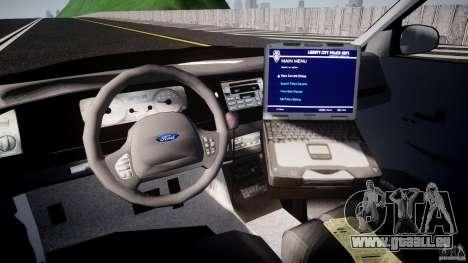 Ford Crown Victoria Raccoon City Police Car pour GTA 4 est un droit