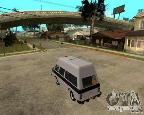 RAPH 22038 taxi pour GTA San Andreas laissé vue
