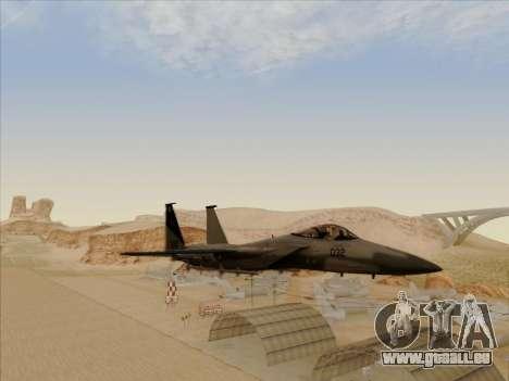 F-15C für GTA San Andreas Rückansicht