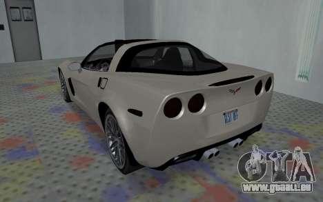 Chevrolet Covette Z06 pour GTA San Andreas vue de droite