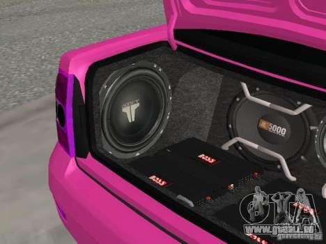 Lada Priora Emo pour GTA San Andreas vue de dessus