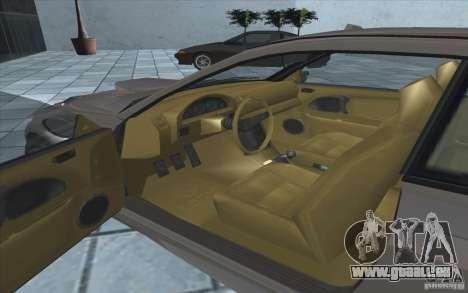 Sentinel von GTA 4 für GTA San Andreas Rückansicht
