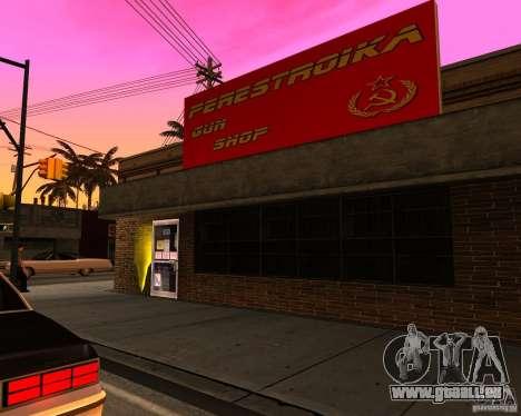 Stocke la restructuration pour GTA San Andreas quatrième écran