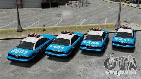Vapid Police Cruiser ELS pour GTA 4 Vue arrière