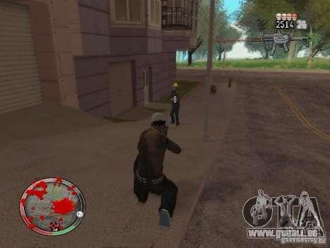 GTA IV HUD v4 by shama123 pour GTA San Andreas cinquième écran