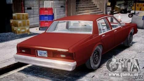 Chevrolet Impala 1983 pour GTA 4 vue de dessus