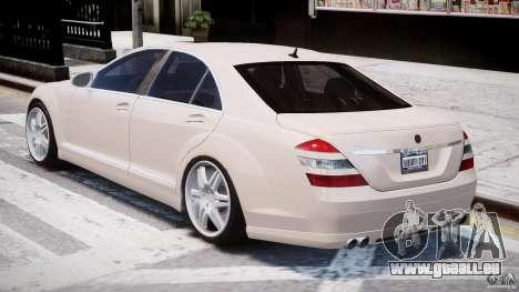 Mercedes-Benz S-Class BRABUS S Biturbo W221 2006 pour GTA 4 est un côté