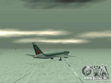 Boeing 767-300 Alitalia pour GTA San Andreas vue arrière