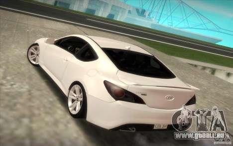 Hyundai Genesis 3.8 Coupe pour GTA San Andreas laissé vue