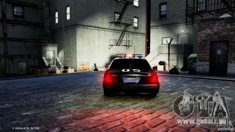 Ford Crown Victoria CVPI-K9 V6.9A-LAPD-ELS pour GTA 4 Vue arrière