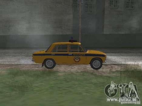 POLICE DE LA CIRCULATION VAZ 21016 pour GTA San Andreas laissé vue