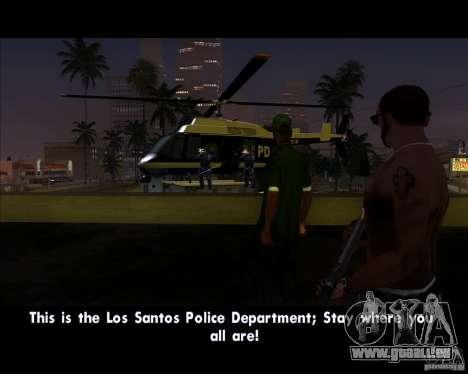 GTA IV Police Helicopter für GTA San Andreas zurück linke Ansicht
