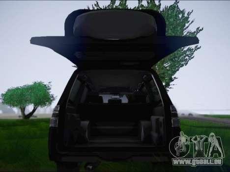 Mitsubishi Pajero 2012 für GTA San Andreas Rückansicht
