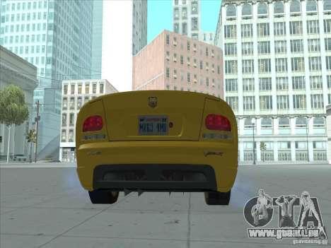 Dodge Viper SRT-10 (or Viper) pour GTA San Andreas laissé vue