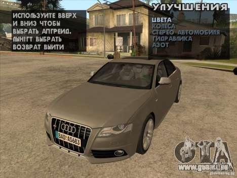 Mécanique d'accordage n'importe où pour GTA San Andreas