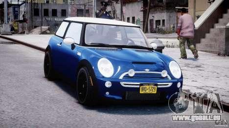 Mini Cooper S 2003 v1.2 pour GTA 4 Vue arrière