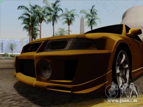 Mitsubishi Lancer Evolution VI pour GTA San Andreas laissé vue