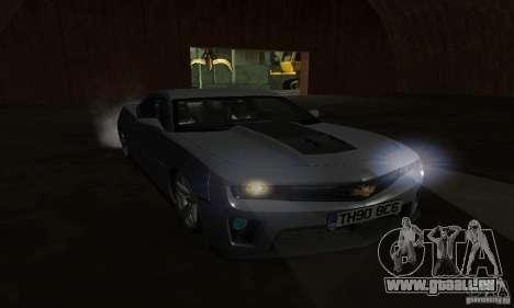 Chevrolet Camaro ZL1 2012 pour GTA San Andreas vue intérieure