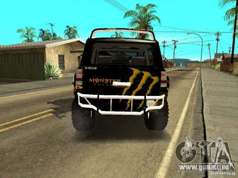 Scion xB OffRoad pour GTA San Andreas sur la vue arrière gauche