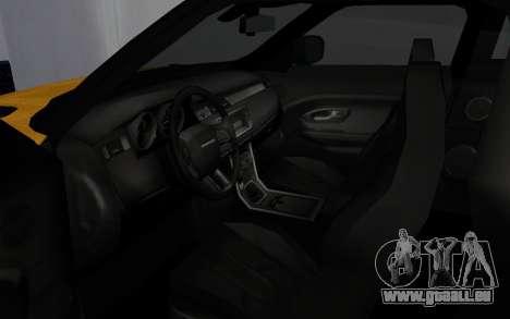 Land Rover Range Rover Evoque für GTA San Andreas Rückansicht