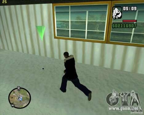 Einen Schneeball werfen für GTA San Andreas