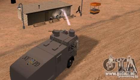 Eine Polizei-Wasserwerfer Rosenbauer v2 für GTA San Andreas Rückansicht