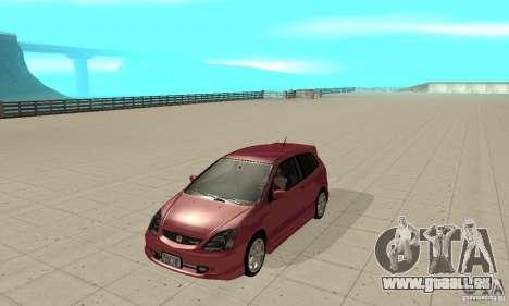 Honda Civic Type R - Stock + Airbags pour GTA San Andreas laissé vue