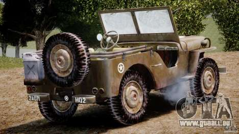 Jeep Willys [Final] pour GTA 4 vue de dessus