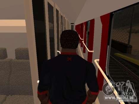 Nevsky express pour GTA San Andreas vue arrière